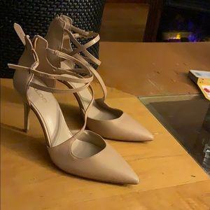 Aldo cream strappy heels size 6.5